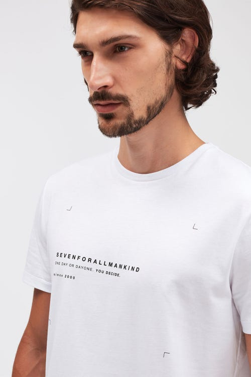 GRAPHIC TEE COTTON ONE DAY WHITE