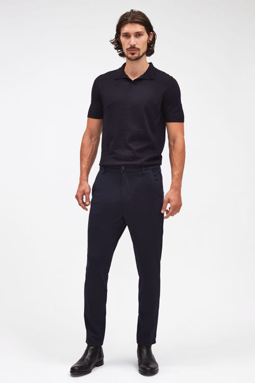 TRAVEL CHINO DOUBLE KNIT NAVY