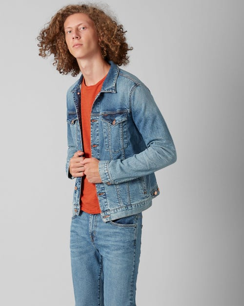 7 For All Mankind - Trucker Jacket Selvedge Vitalized Light Blue