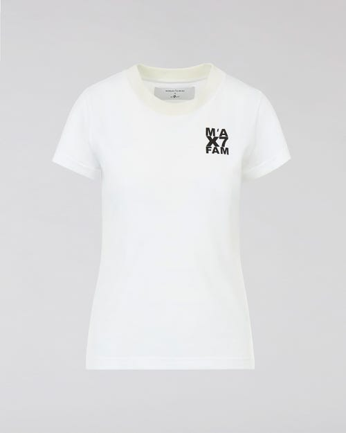 7 For All Mankind - Logo Tee Jersey White M'A X 7Fam