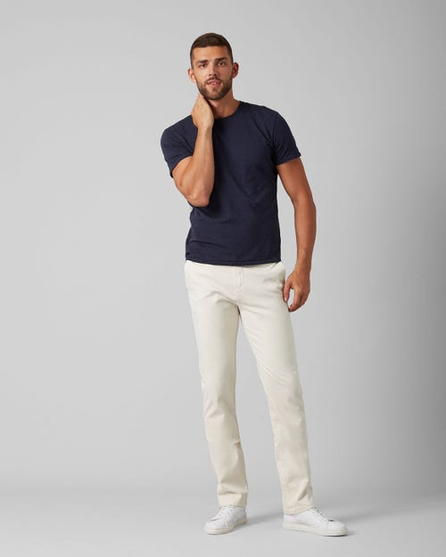 7 For All Mankind - Slimmy Chino Luxe Performance Sateen Salt White