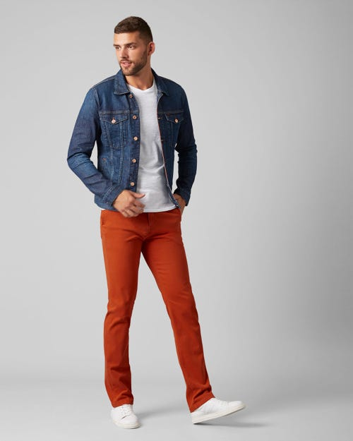 7 For All Mankind - Slimmy Chino Luxe Performance Sateen Tiger Orange