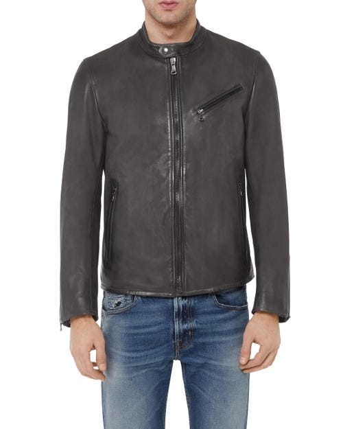7 For All Mankind - Biker Jacket Leather Grey