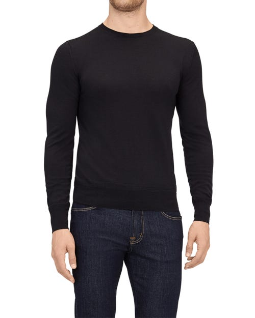 CREW NECK KNIT CASHMERE BLACK