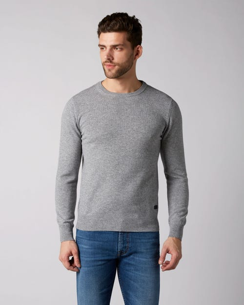 7 For All Mankind - Crew Neck Knit Cashmere Grey Melange