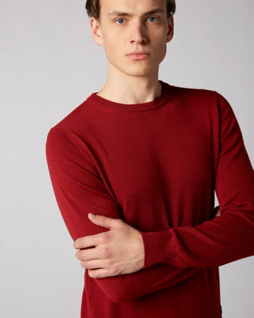 7 For All Mankind - Crew Neck Knit Cashmere Red
