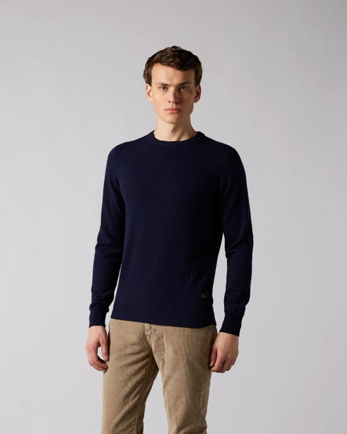 7 For All Mankind - Crew Neck Knit Cashmere Navy