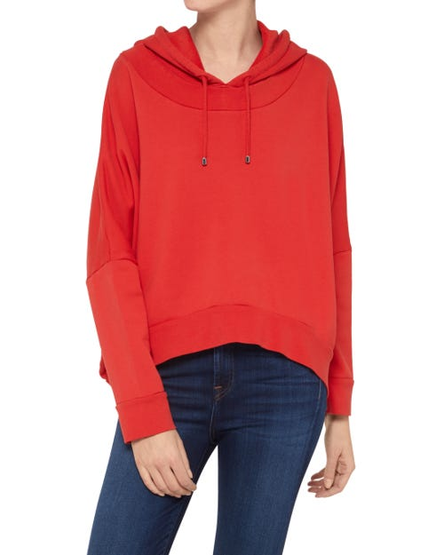 OVERSIZE HOODIE CROP COTTON FLAME