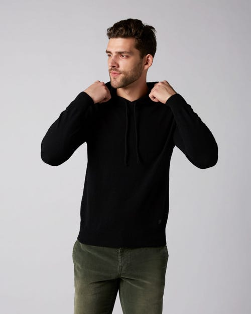 7 For All Mankind - Hoodie Cashmere Black