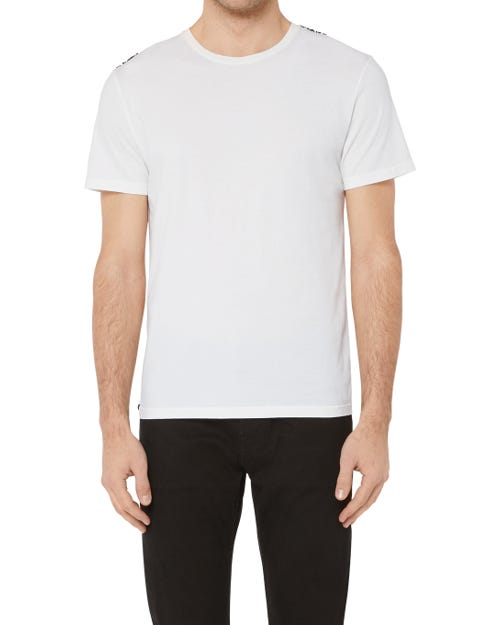 T-SHIRT COTTON WHITE WITH BLACK