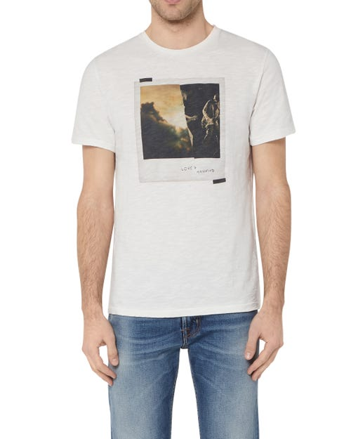7 For All Mankind - Graphic Tee Slub Polaroid White