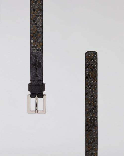 7 For All Mankind - Skinny Studded Belt Leather