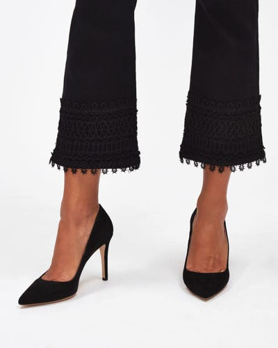 ANKLE BOOT SLIM ILLUSION FAME WITH LACE HEM