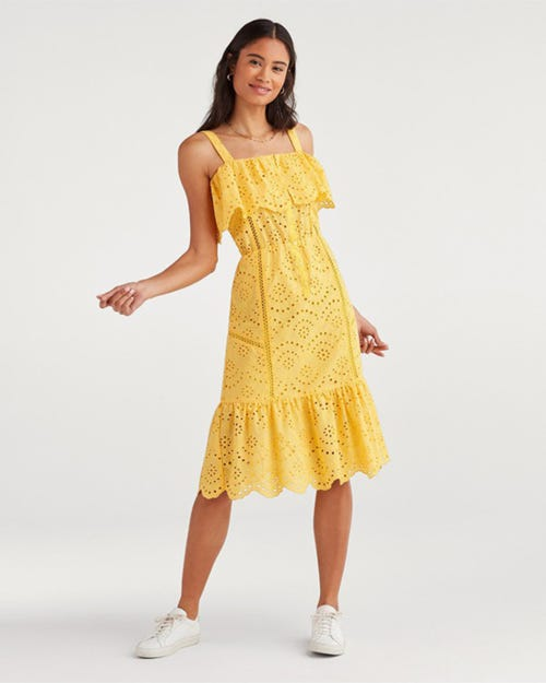 7 For All Mankind - Eyelet Dress Dandelion