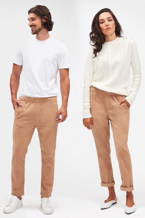 JOGGER CHINO SATEEN SANDCASTLE