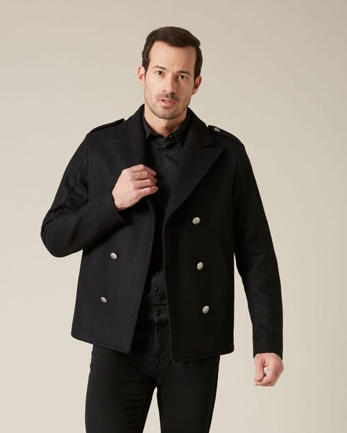 PEACOAT WOOL BLACK