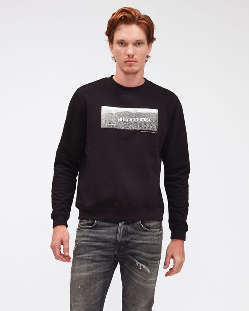 GRAPHIC SWEATSHIRT HOLLYWOODSTOCK BLACK