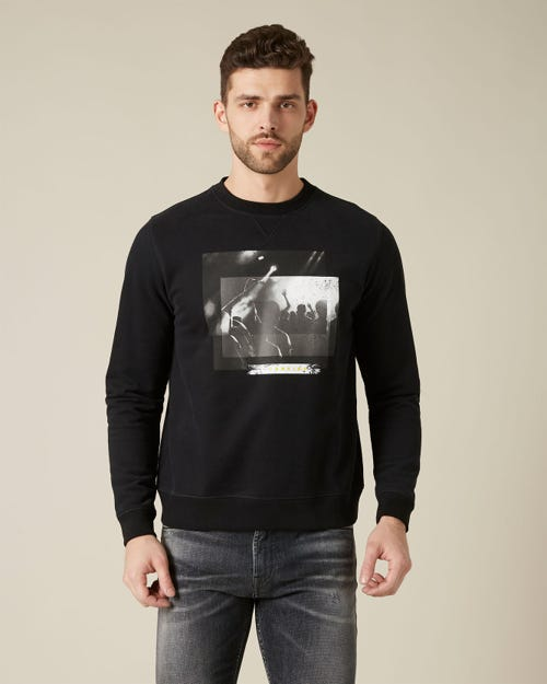 GRAPHIC SWEAT COTTON CONCERT PRINT BLACK