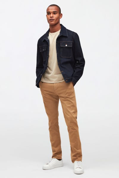 HYBRID TAPERED CHINO LUXE PERFORMANCE SATEEN TAFFY