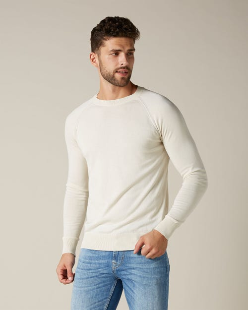 CREW NECK KNIT COTTON OFF WHITE