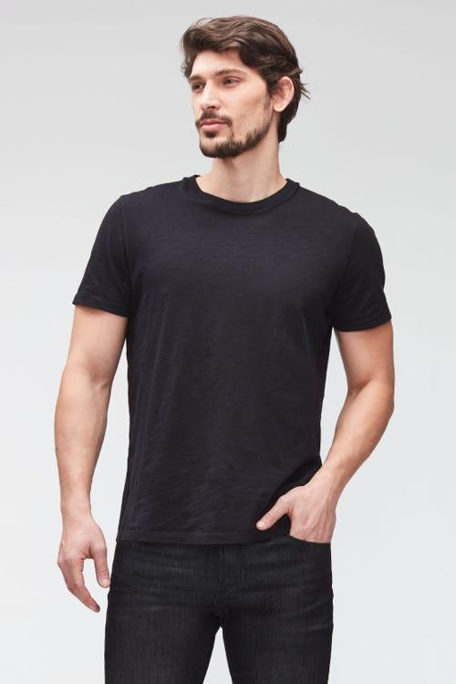 T-SHIRT SLUB   BLACK