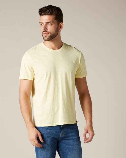 T-SHIRT SLUB YELLOW