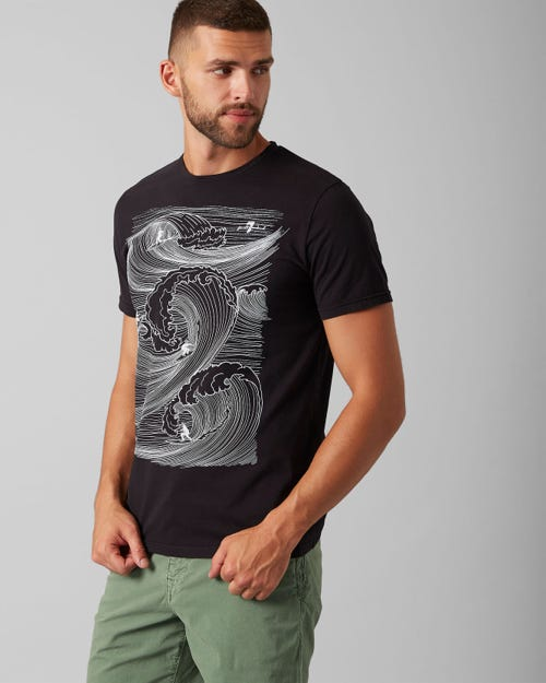 GRAPHIC TEE COTTON SUF WEAVE BLACK
