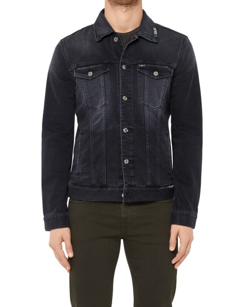 TRUCKER JACKET BLACK SALOON