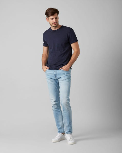 7 for all Mankind - LARRY BROADWAY LIGHT BLUE WITH SHADOW POCKET