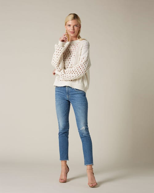 PYPER CROP LUXE VINTAGE CAPITOLA WITH RAW CUT AND DISTRESSED