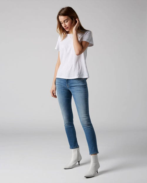 7 For All Mankind - Pyper Crop Slim Illusion Heartfelt