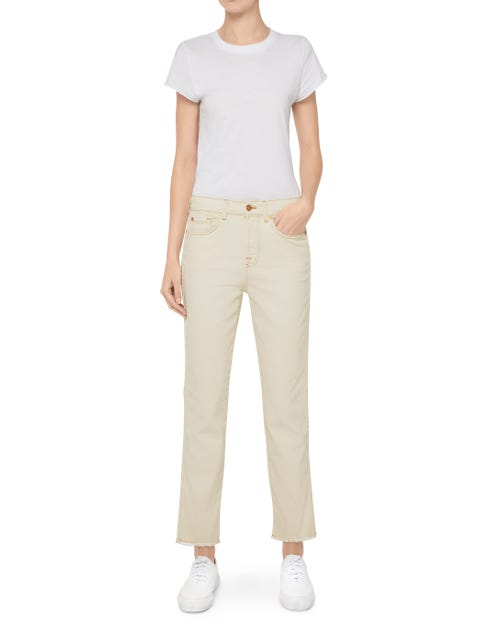 7 For All Mankind - Erin Colored Comfort Stretch Ecru