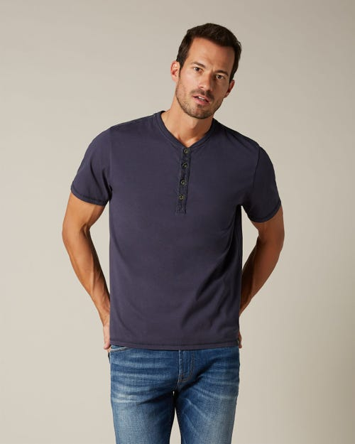 HENLEY SHORT SLEEVE JERSEY NAVY