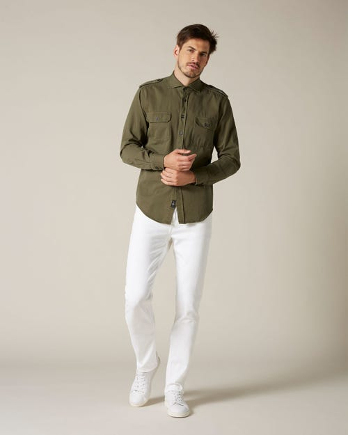 7 For All Mankind - Slimmy Luxe Performance White