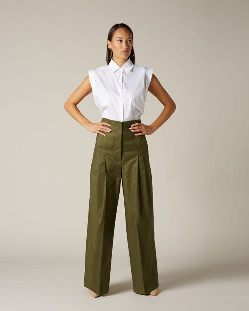 HIGH WAIST SUPER FLARE GREEN