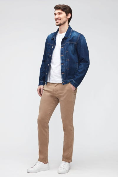 SLIMMY CHINO LUXE PERFORMANCE SATEEN   SANDCASTLE