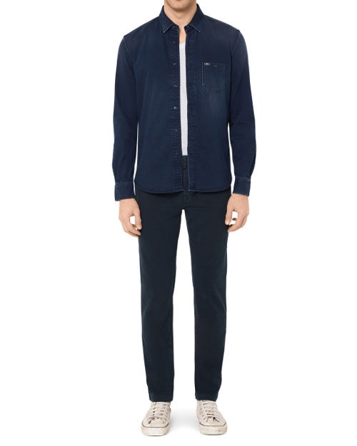 EXTRA SLIM CHINO LUXE PERFORMANCE SATEEN INK BLUE