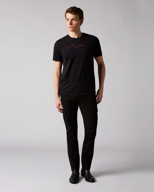 7 For All Mankind - Extra Slim Chino Cargo Washed Compact Twill Black