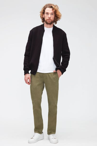 SLIMMY CHINO TAP. LUXE PERFORMANCE SATEEN   OLIVE GREEN