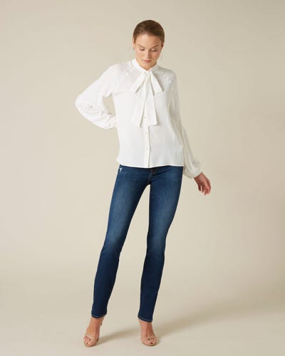 7 For All Mankind - Kimmie Straight Slim Illusion Melrose