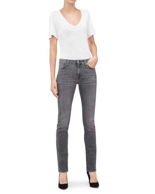 7 For All Mankind - Kimmie Straight Slim Illusion Moment