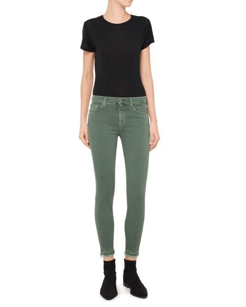 THE SKINNY CROP SLIM ILLUSION COLOR GREEN