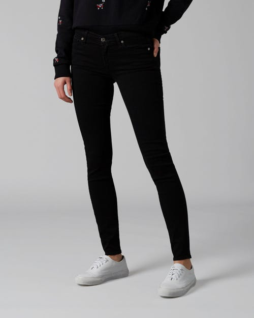 7 For All Mankind - The Skinny B(Air) Rinsed Black With Embellished Label