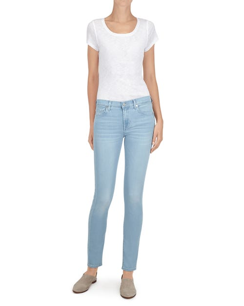 7 For All Mankind - The Skinny Slim Illusion Luxe Float