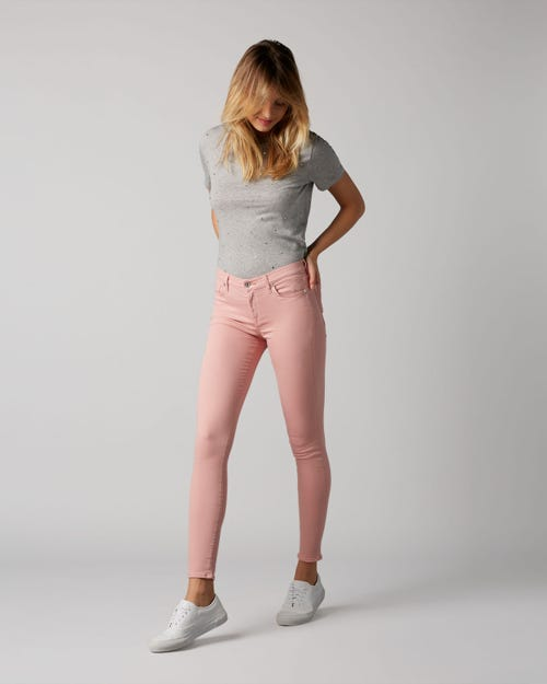 7 For All Mankind - The Skinny Slim Evolution Colored Light Pink