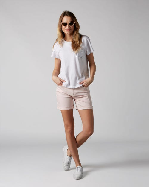 7 For All Mankind - Boy Shorts Colored Twill Pink