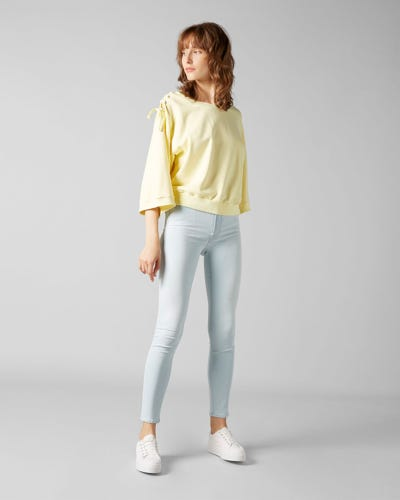7 for all Mankind - HW SKINNY CROP SLIM ILLUSION LUXE SURFSIDE