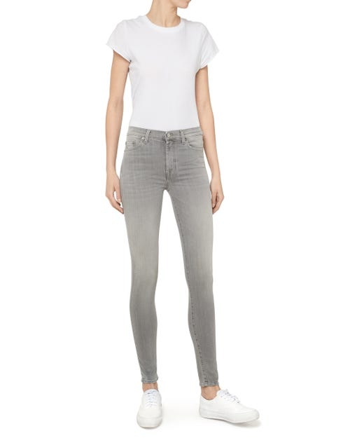 HIGH WAIST SKINNY SLIM ILLUSION LUXE WASHED GREY