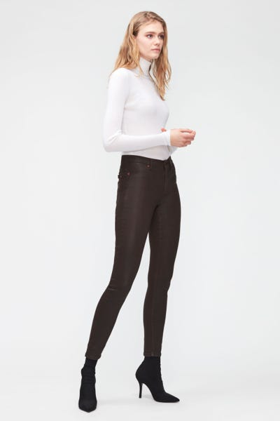 HW SKINNY COATED SLIM ILLUSION  COFFEE