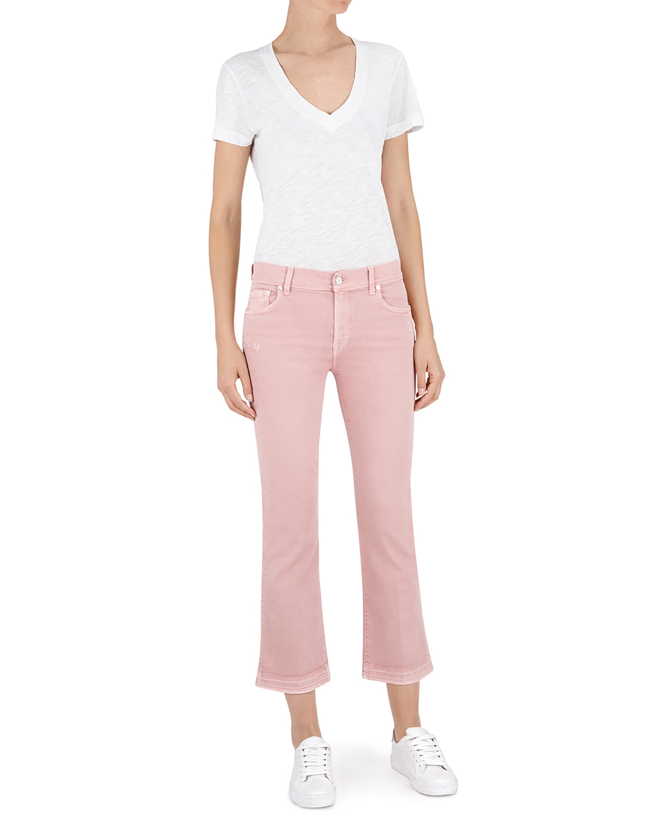 Slim Color Unrolled Boot Pink Cropped Illusion tQhdxorCBs